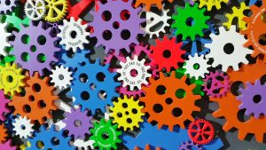 The gears of a machine increase efficiency