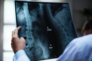 Radiologist diagnosing disease