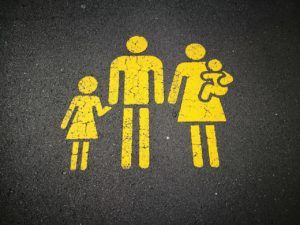 painted family on pavement