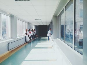 hallway with physicians