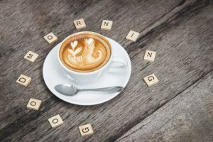 """cappucino with """"good morning"""""""