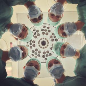 patient view of surgical team