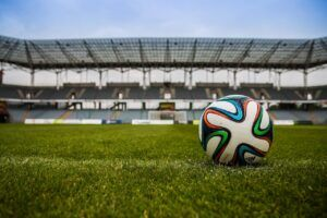 soccer ball on the pitch